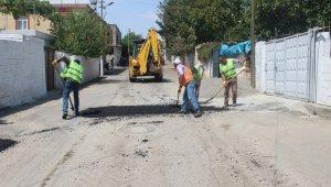 Kahta'da yol bakım ve onarım çalışmaları sürüyor