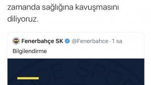 Kayserispor'dan Fenerbahçe'ye geçmiş olsun mesajı