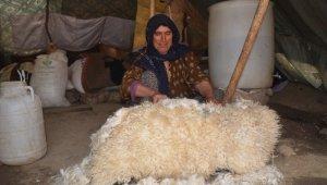 Koyun postu içinde kışlık peynir üretiliyor