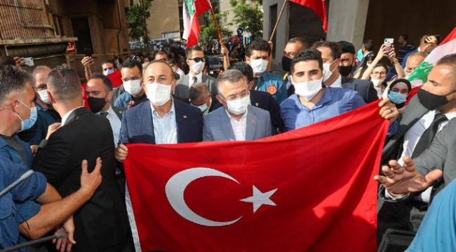 Lübnan'da Türk heyeti sevgi seli ile karşılandı