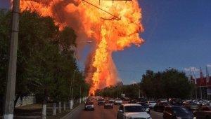 Rusya'da benzin istasyonunda LPG tankı patladı: 4 yaralı