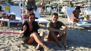 Ünlü oyuncu bayram tatilini Bodrum'da geçiriyor