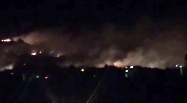 Alevler Türkiye'den görülüyor