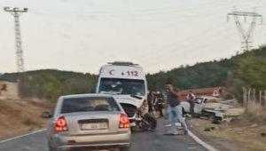 112 ambulansı Kastamonu yolunda kaza yaptı
