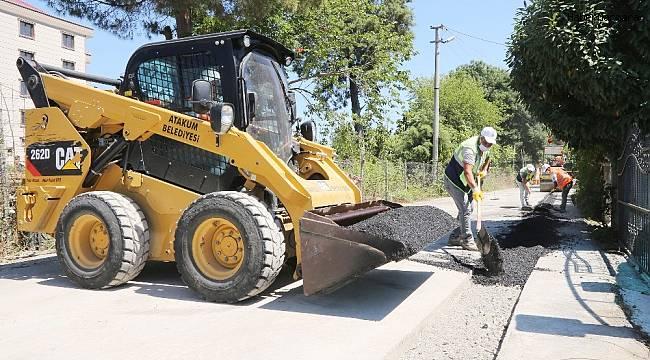 Atakum Belediyesi'nden 23 bin metrekarelik alanda asfalt onarımı