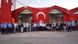 Ayvalık'ta 66 gönüllü itfaiyeci sertifikalarına kavuştu
