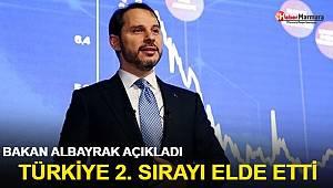Bakan Albayrak açıkladı! Türkiye 2. sırayı elde etti