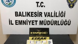 Balıkesir'de uyuşturucu operasyonunda 10 şüpheliden 2'si kişi tutuklandı
