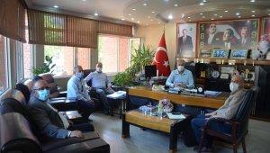 Başkan Yaman katı atık yönetimi yetkilileriyle bir araya geldi