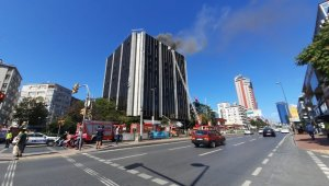 Beşiktaş'ta iş merkezinde yangın