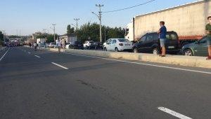 Bisikletli çocuğa kamyon çarptı, mahalleli yolu kapatarak tepki gösterdi