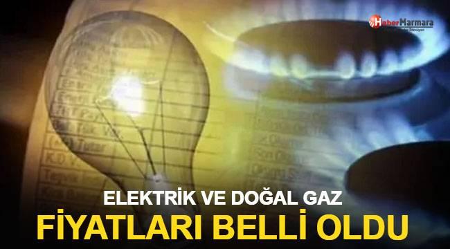 Elektrik ve doğal gaz fiyatları belli oldu