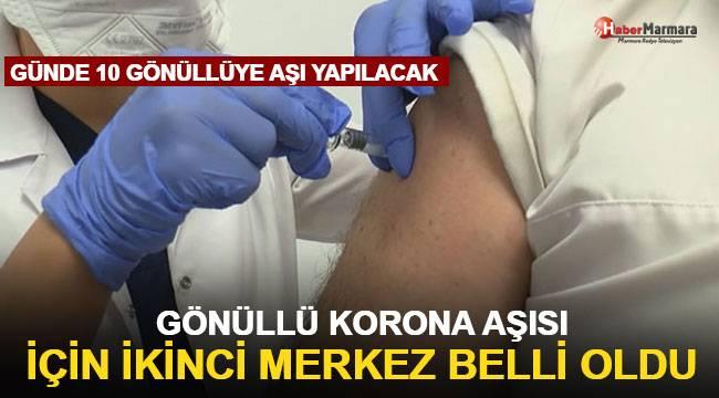 Gönüllü koronavirüs aşısı için ikinci merkez belli oldu