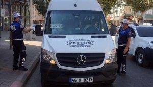Kahramanmaraş'ta minibüslere denetim