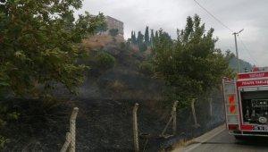Karacabey'de çıkan yangında hayvanlar telef oldu
