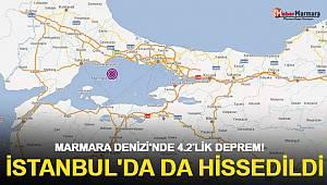Marmara Denizi'nde 4.2'lik deprem! İstanbul'da da hissedildi