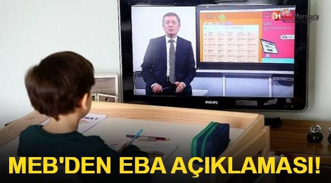 MEB'den EBA açıklaması!
