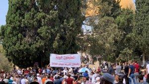 Normalleşme anlaşması Mescid-i Aksa'da protesto edildi