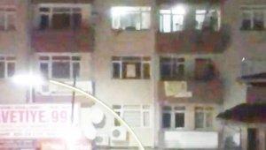 Sakarya'da binanın 4'üncü katından böyle atlamış