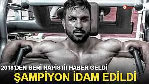 Şampiyon güreşçi idam edildi