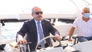 TBMM Başkanı Şentop ile PAB Başkanı Baron, Tekirdağ'da tekne turuna çıktı