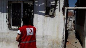 Türk Kızılay Aydın Şubesi'nden evi yanan ailelere yardım eli