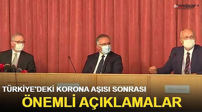 Türkiye'deki korona aşıları sonrası ilk açıklama!