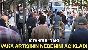 Bilim Kurulu üyesi, İstanbul'daki vaka artışının nedenini açıkladı