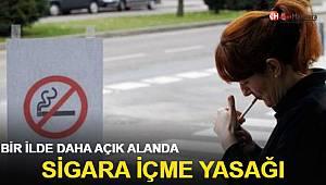 Bir ilde daha açık alanda sigara içme yasağı