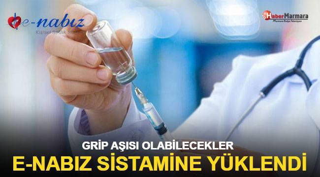 Grip aşısı alabilecek kişiler e-Nabız sistemine yüklendi