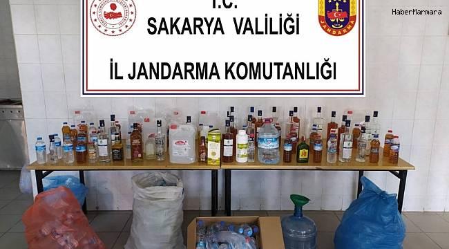 Jandarmadan sahte içki operasyonu: 2 gözaltı