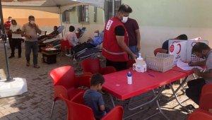 Kuyulu köyündeki kan bağışına yoğun ilgi