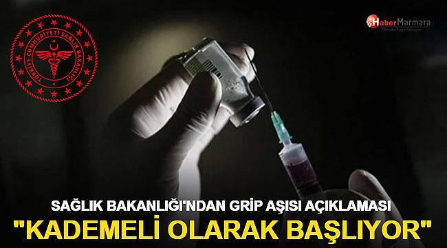 Sağlık Bakanlığı'ndan son dakika grip aşısı açıklaması