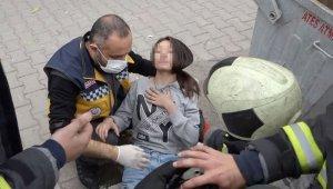 Aksaray'da benzin dökülen soba parladı: 5 yaralı