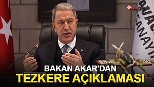 Bakan Akar'dan Azerbaycan tezkeresi ile ilgili flaş açıklama