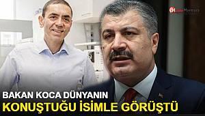 Bakan Koca, dünyanın konuştuğu Prof. Dr. Uğur Şahin'le görüştü
