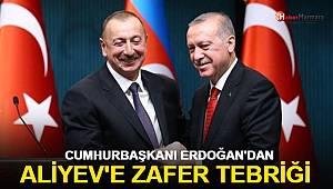Cumhurbaşkanı Erdoğan'dan Aliyev'e zafer tebriği