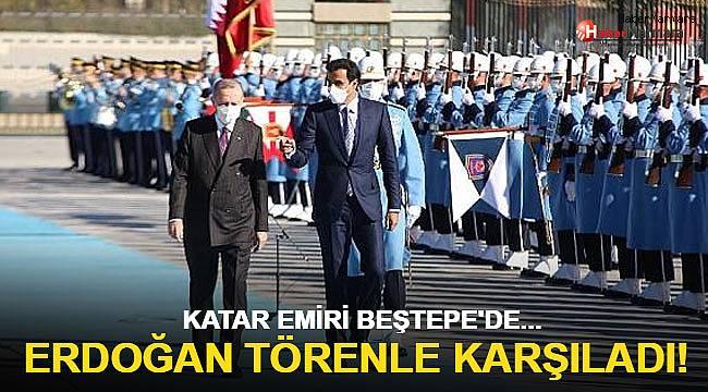 Cumhurbaşkanı Erdoğan, Katar Emiri Al Sani'yi resmi tören ile karşıladı