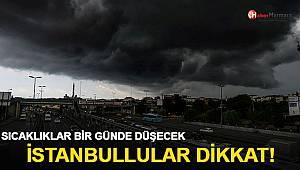 İstanbullular yarına dikkat! Sıcaklıklar bir günde düşecek