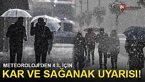 Meteoroloji'den 4 il için yağmur ve kar yağışı uyarısı