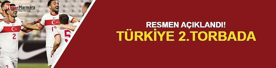 Resmen açıklandı! Türkiye 2. torbada
