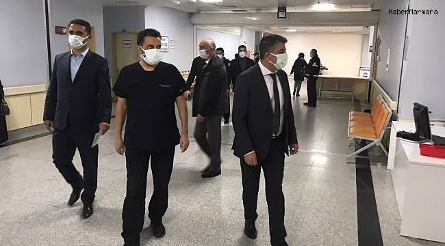 Sağlık Müdürü Sünnetçioğlu'ndan hastane ziyareti