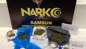 Samsun'da kokain ve esrar ele geçti: 2 gözaltı