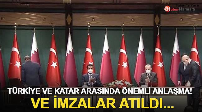 Türkiye ve Katar arasında önemli anlaşma! Ve imzalar atıldı...