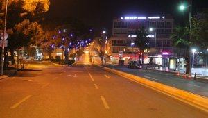 56 saatlik yasak başladı, Aydın sokakları boş kaldı