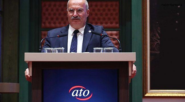 """ATO Başkanı Baran: """"Dar zamanda yapılan bu destekler tüccarımıza kol kanat olacak"""""""
