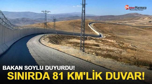 Bakan Soylu duyurdu! Sınırda 81 km'lik duvar!