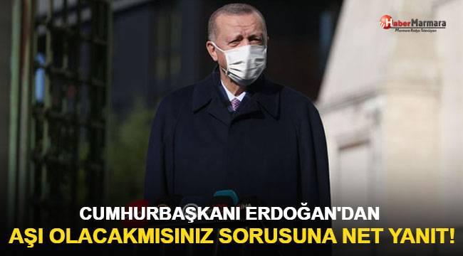 Cumhurbaşkanı Erdoğan'dan son dakika koronavirüs aşısı açıklaması