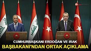 Cumhurbaşkanı Erdoğan ve Irak Başbakanı'ndan ortak açıklama