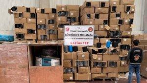 Gaziantep'te 315 bin TL değerinde gümrük kaçağı iplik ve makine ele geçirildi